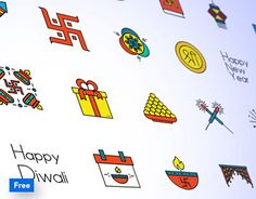 """Check out new work on my @Behance portfolio: """"Free Diwali Iconpack"""" http://be.net/gallery/57766077/Free-Diwali-Iconpack"""