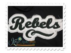 Rebels Distressed Applique