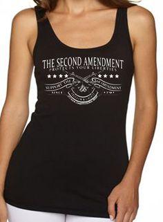 U.S. Custom Ink - 2nd Amendment Gun Women's Tank Top, $14.00 (http://www.uscustomink.com/2nd-amendment-gun-Womens-Tank-Top/)