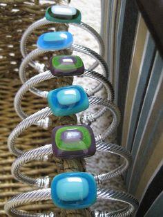 fused glass bangles