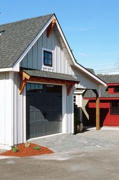 Garage Plans With Loft, Garage Loft, Garage Ideas, Garage Workshop, Dream Garage, Farmhouse Sheds, Modern Farmhouse Exterior, Farmhouse Chic, Shed Design