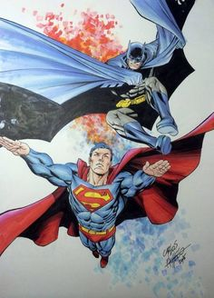 Batman and Superman by Carlos Pacheco *
