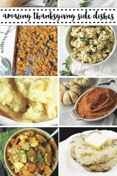 These last minute Thanksgiving Side Dish Recipes are sure to make your Thanksgiving Menu a hit! #Thanksgiving #Recipes #Dinner #FallMeals