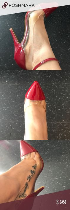 Cali Wine Red High Heel Pumps Shoes Cali Wine Red High Heel Pumps Shoes. Size 8 1/2. So comfortable! Eye catching and stunning. Wear with jeans, shorts, or dresses. Perfect for summer! BRAND NEW. NEVER WORN. 🛑I only ship Shoes. I do not ship with Shoe Box🛑 Shoes Heels