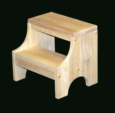 child's step stool unfinished