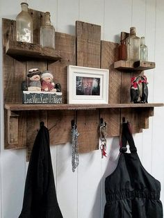 It is a good idea to be copied for the kitchen if a person wants something to place the spice bottles and hang the apron. It is a good idea if anyone wants to decorate the kitchen in an innovative style as it allows a prominent place for placing the kitchen items in stylish bottles.
