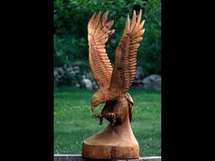 tree wizard chainsaw carving ( time lapse ) - YouTube