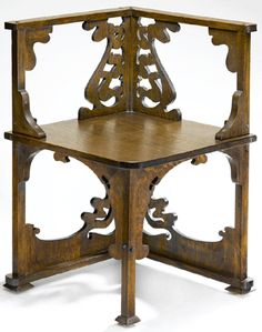 Charles Rohlfs (American, Corner Chair, circa 1898, white oak, 29 by 19 by 19 inches.