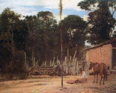 ALMEIDA JÚNIOR - Apertando o lombilho Óleo sobre tela - 64 x 88 - 1895 - Pinacoteca do Estado de São Paulo