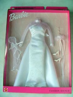 Barbie Doll Set, Barbie I, Barbie World, Barbie Dress, Barbie Bridal, Barbie Wedding Dress, Wedding Dress Styles, Vintage Barbie Kleidung, Vintage Barbie Clothes