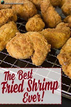 The Best Fried Shrimp Ever! Deep Fried Shrimp, Fried Shrimp Recipes, Shrimp Recipes For Dinner, Prawn Recipes, Shrimp Dishes, Fried Fish, Fish Recipes, Seafood Recipes, Appetizer Recipes