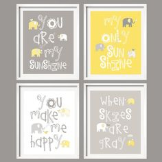 You Are My Sunshine Wall Hangings