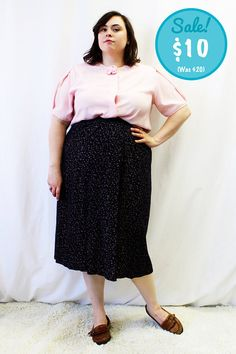 CLEARANCE  Plus Size  Vintage Pink Pastel Rose by TheCurvyElle