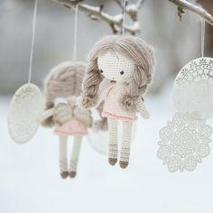 PATTERN  Little angel doll  crochet pattern amigurumi door lilleliis
