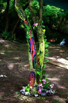 Inner Waves 2014 Psychedelic Decor, Installation Art, Art Installations, Friendship Bracelets, Festivals, Waves, Inspiration, Decorations, Design