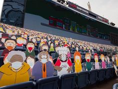 1,800 South Park Cut-Outs Spread Across Five Sections at Broncos Game During the COVID-19 Pandemic Denver Broncos Game, Go Broncos, South Park Characters, Comedy Central, Satan, Charity, Games, Cut Outs, Artist