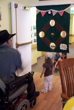 Baseball bean bag toss by ladybirdln. She made this for a baseball themed activity for residents at an assisted living center!!! Her kids and the residents loved it! Easy to see why :o)