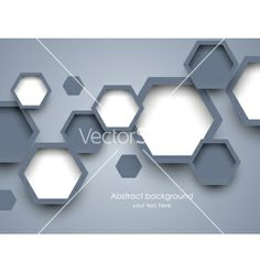 Background with hexagons vector 1245069 - by Denchik on VectorStock®