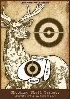Deer Targets, Pistol Targets, Rifle Targets, Air Rifle Hunting, Hunting Rifles, Vintage Fall, Vintage Birds, Vintage Style, Deer Shooting