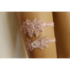 Wedding Garter Pink Lace Bridal Garter,Wedding Accessory,Bridal... ($20) via Polyvore featuring intimates