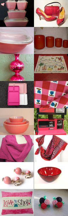 Red and Pink Favorites by Cheryl on Etsy--Pinned with TreasuryPin.com
