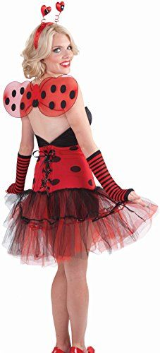 Womens Economy Red and Black Lady Bug Club Wings * Learn more by visiting the image link-affiliate link.