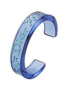 Blue Acrylic Crystal Cuff