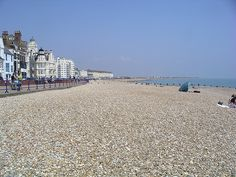 Eastbourne beach.