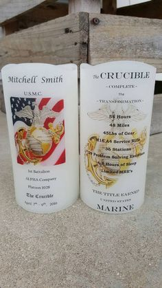 United States Marine Corps Crucible Candle Have it Personalized EGA USMC Crucible Facts on Back Lantern Military Party, Military Life, Military Memes, Marine Mom, Marine Corps, Marine Life, Marines Boot Camp, Spelling And Grammar, Us Marines