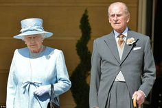 dailymail:  Queen's Garden Party, June 10, 2014-Queen Elizabeth and the Duke of Edinburgh