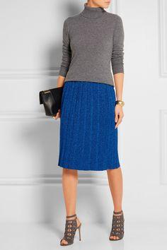Sibling | Pleated metallic knitted skirt | NET-A-PORTER.COM