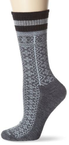 """Goodhew Women's LumberJane Sock by Goodhew. $12.34. Spandex Throughout the Sock. Cushion Sole. Flat Toe Seam. 33% Merino Wool/33% Viscose Bamboo/29% Stretch Nylon/5% Spandex. Our socks are produced on the most modern equipment in the world, giving us access to every conceivable feature that can be incorporated in a sock. Spandex Throughout- All Goodhew socks are manufactured with Spandex throughout the entire sock. One of our complaints about so many socks is """"bag..."""