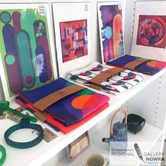 A CORNER OF COLOUR As seen in the Shoalhaven Regional Art Gallery. Art prints and tea towels available in the gallery gift shop!