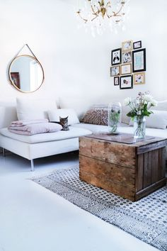 Ikea 'Söderhamn' sofa. white living room
