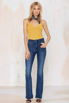 09828e5c19140 7 For All Mankind Get Braided Flared Jean