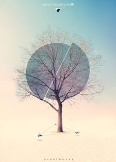 60 25 Beautiful and modern poster designs for your inspiration | Save Trees. Save Earth.