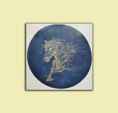 Horse painting on canvasoriginal abstract painting Large Canvas Wall Art, Extra Large Wall Art, Blue Abstract Painting, Abstract Wall Art, Horse Canvas Painting, Contemporary Abstract Art, Original Paintings, Stretching, Artworks