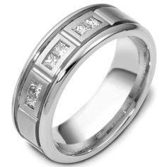 White Gold Diamond Ring   www.weddingbands.com   @Wedding Bands