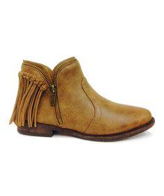 Look at this #zulilyfind! Chestnut Commitment Fringe Ankle Boot #zulilyfinds
