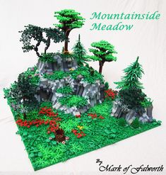 :: My Creations. Built for the Lego Landscape contest. It was most interesting building a scene with only landscaping in. Lego Tree, Lego Minecraft, Lego Lego, Lego Moc, Minecraft Buildings, Amazing Lego Creations, Lego Pictures, Lego Craft, All Lego