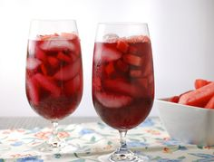 Strawberry-Watermelon Red Wine Sangria
