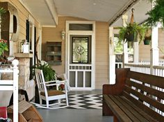 Porch Inspiration ( Gorgeous painted floors!!)