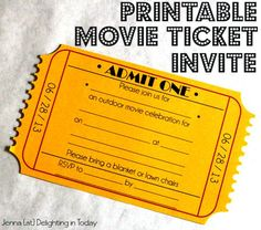 Movie Bingo Cards With Any Words  Vive Les Partys Party Ideas