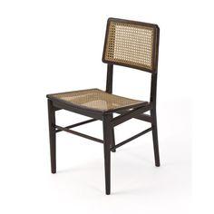 Chairs in Jacaranda and cane by Joaquim Tenreiro