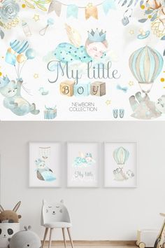 The My Little Boy graphics set is a beautiful set of illustration that are perfect for making your own customized baby room decor. It can also be used for digital scrapbooking, card making, grahic design projects and other crafts. #affiliate Newborn Babies, New Mums, Everything Baby, Baby Room Decor, Graphic Illustration, Little Boys, Digital Scrapbooking, Design Projects, Design Elements