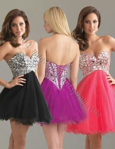 Love the neon dress to the far right
