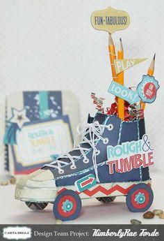 KimberlyRae-RoughandTumble-RollerSkateCenterPiece