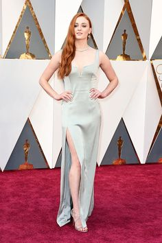 """""""Sophie Turner attends the 88th Annual Academy Awards at Hollywood & Highland Center on February 28, 2016 in Hollywood, California. """""""