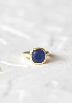 Light Of My Life Indie Stone Ring In Sapphire Quartz | Modern Vintage Rings | Modern Vintage Jewelry