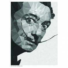 Geometric Dali art print - hardtofind.